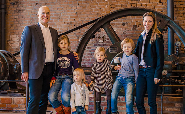 Hostfamily Tanja Getto and Michael Stober with children